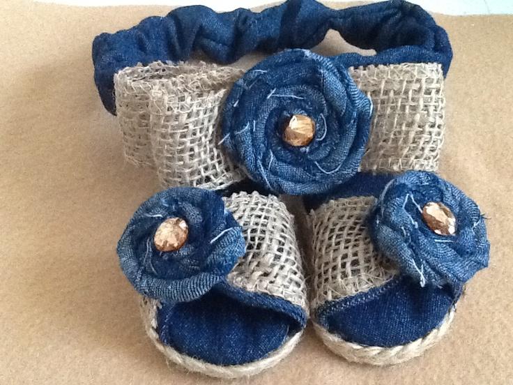 Set se sandalia y banda para bebe   Muñecas Tejidos crochet ...