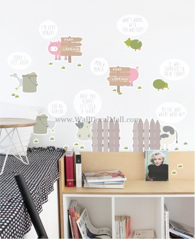 Who Is This Farm Animal Wall Decals – WallDecalMall.com
