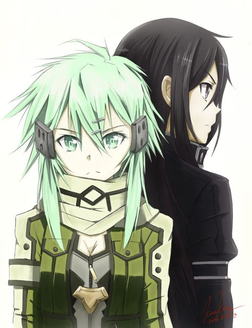 Sword Art Online 2 - Shinon (シノン) & Kirito (キリト)I dont like them together..