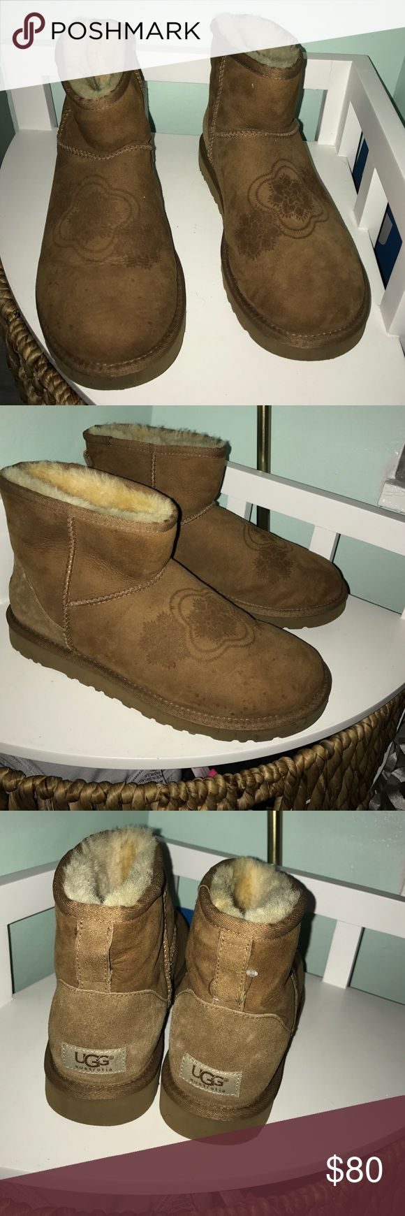 Mini Chestnut Uggs Mini chestnut 100% authentic Ugg boots! Minimal stains. Willing to negotiate :) UGG Shoes Winter & Rain Boots