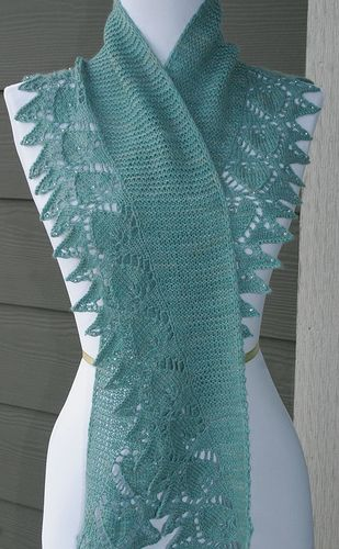 Free Knitting Patterns For Scarves With Beads : 1000+ images about Knitting - Shawls .. wraps .. shrugs on Pinterest Drops ...