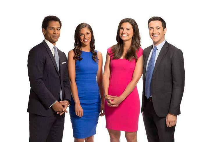 """The Cycle"" MSNBC, pin from L-R Toure,Abby Huntsman,Krystal Ball & Ari Melber"