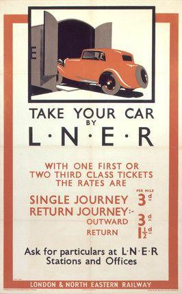 'Take Your Car by LNER', LNER poster, 1935.