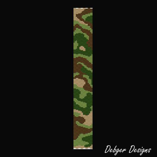 CHRISTMAS SALE Bush Camouflage Beaded Peyote door FUNPATTERNDESIGNS