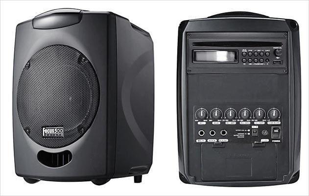 ENCEINTE AMPLIFIÉE CHIAYO FOCUS 500 MODÈLE AVEC LECTEUR CD MP3 PRISE USB - AVEC MICRO MAIN SANS FIL