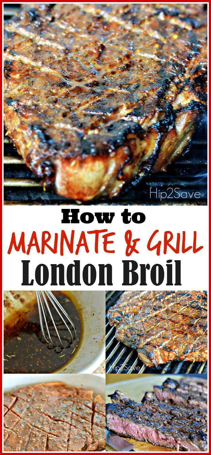 Mariniertes & Gegrilltes London Broil