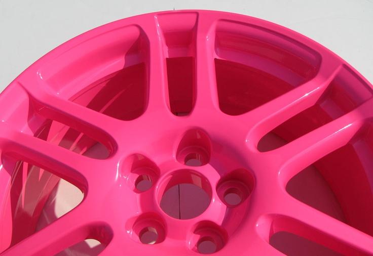 Neon Pink Powder Coat - http://www.powderkegcoatings.com