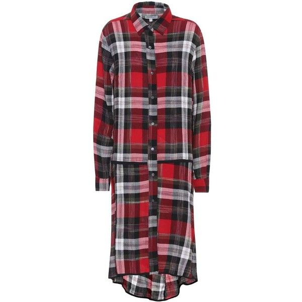 Public School Plaid Shirt Dress ($880) ❤ liked on Polyvore featuring dresses, multicoloured, red dress, tartan dress, multi colored dress, multi-color dresses and multicolor dresses