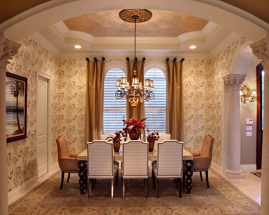 A Formal And Elegant Dining Room Using The Fall Color Bronze