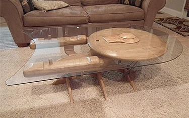 Enterprise coffee table #StarTrek