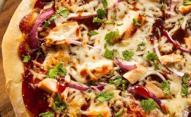 Barbecue Chicken Pizza. A great, quick recipe for planned events as well as an easy treat for unplanned guests.