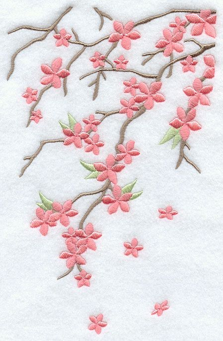 EMBROIDERY - Cherry Blossom Breeze