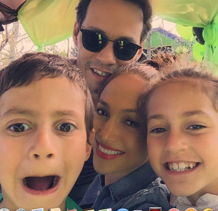 Jennifer López y Marc Anthony reunidos por el amor a sus hijos(FOTOS)