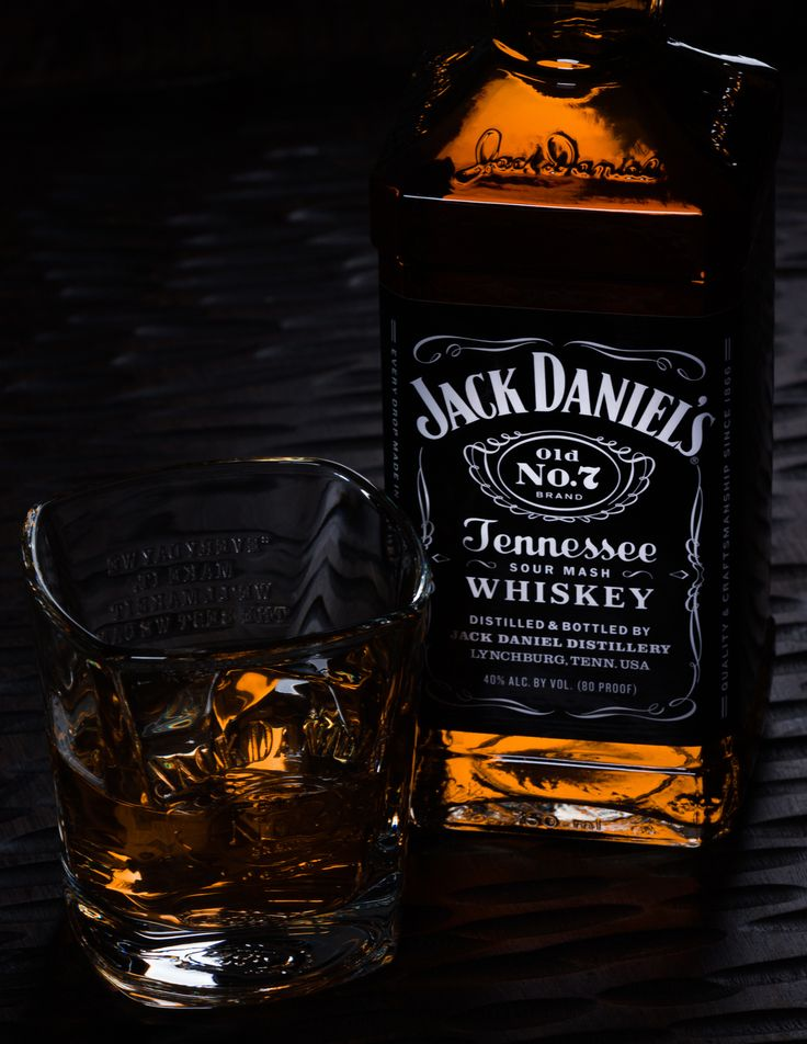 Jack Daniels bottle with glass - Photography Graduation Project