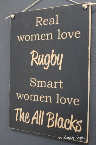 Details about Smart Women Love The All Blacks Rugby Sign Kiwi New Zealand…