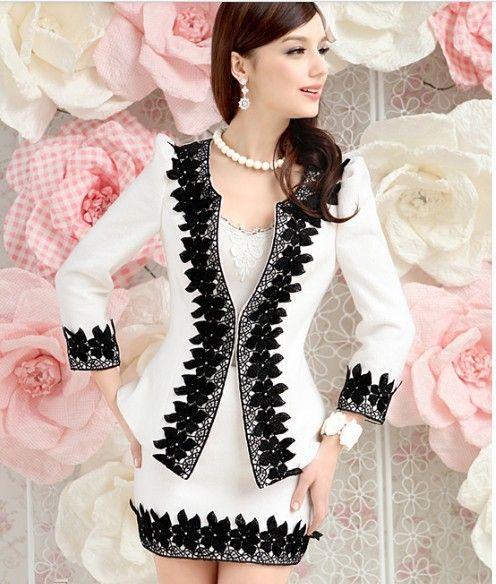 2012 blazer jacket office lady skirt business suit professional set women fashion slim OL plus size wool shirt free shipping $84.35