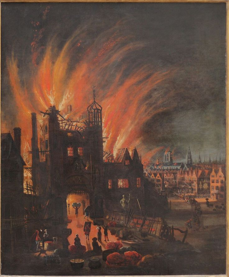 The Great Fire of London, with Ludgate and Old St. Paul's - Grand incendie de Londres — Wikipédia