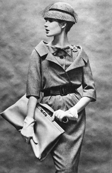 Christian Dior, photo Helmut Newton, Constanze Mode (Germany) Spring/Summer 1959