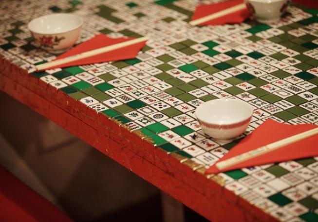 Happy Palace Restaurant and Bar - Mahjong tiled table.