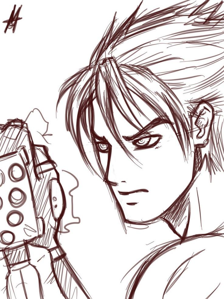 Jin Kazama sketch by *MauroIllustrator on deviantART