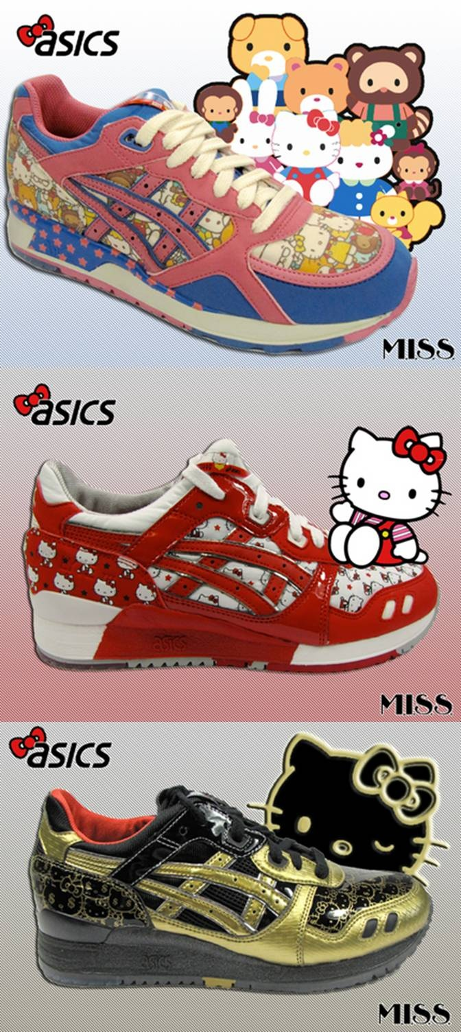 HK 35th Anniversary ASICS shoes! =): Shoes Heavens, Hk 35Th, 35Th Anniversaries, Asics Shoes, Hello Kitty, Anniversaries Asics