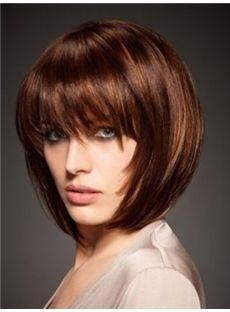 Straight 120% 8 Inches Capless Human Hair
