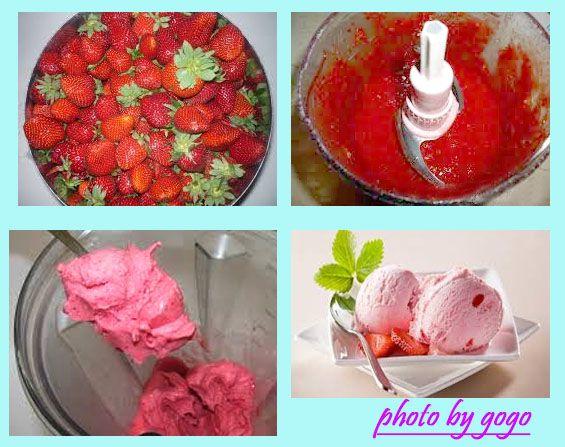 Υλικά: 2 φλιτζάνι ώριμες φράουλες (240 γραμμάρια ) 8 κουταλιές της σούπας γάλα 4 κουταλάκια του γλυκού ζάχαρη 5-6 φυλλαράκι...