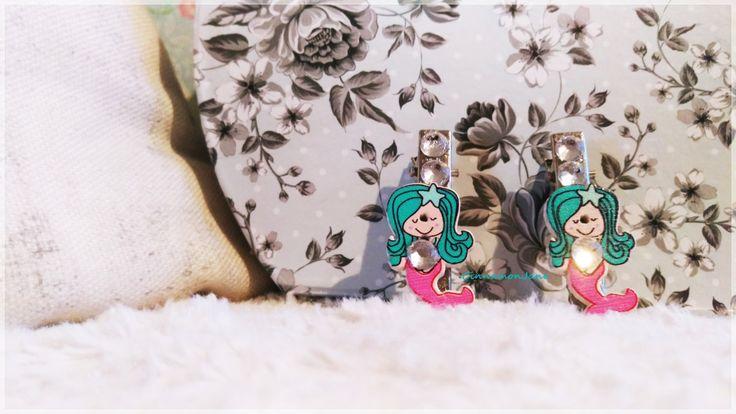 Mermaid Rhinestone Cute PinUp Rockabilly Hair Clip by CinnamonJane on Etsy