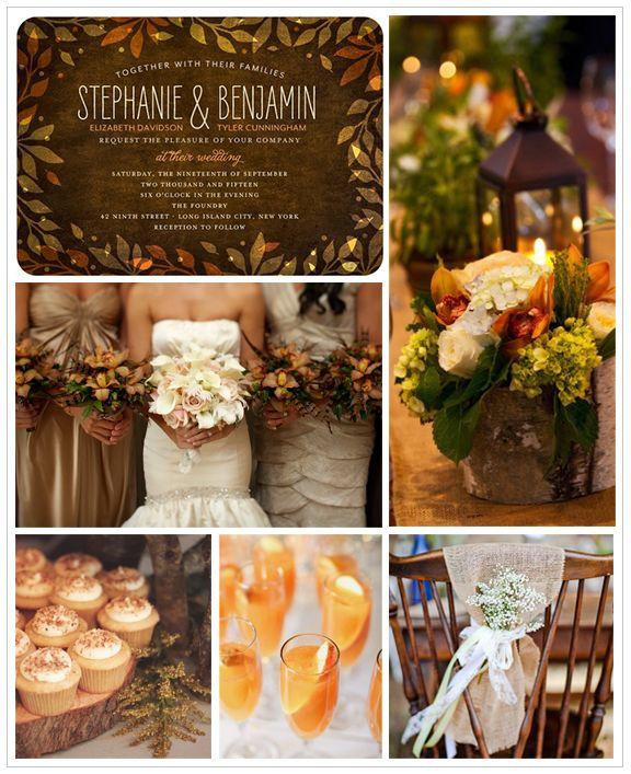 Earthy Wedding Inspiration Board