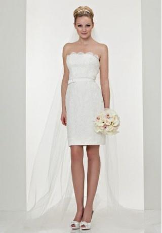 Long Veil Elegant Wedding DressShort