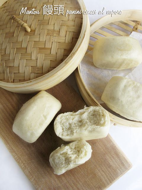 Mantou 饅頭 (panini cinesi al vapore)