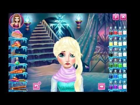 Game Haircuts | Elsa Frozen Real Haircuts At Friv 4 school