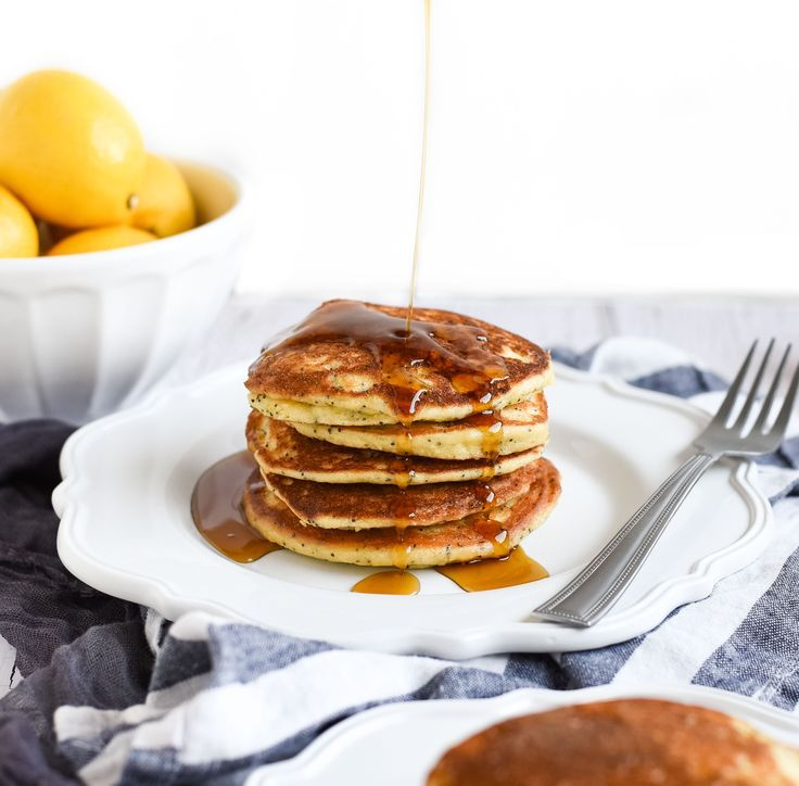 Lemon Poppy Seed Pancakes with Almond Flour September 24, 2017 by Christy Leave a Comment  Pin Share Tweet +1 Stumble Share Lemon poppy seed pancakes that are low-carb, gluten free, high protein, and healthy all by using almond flour! All that and they're still delicious!