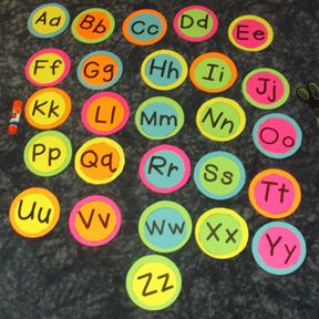 ***Direct link to FREE template to Create Your Own Word Wall Alphabet Headers*** Just add your favorite colored paper or stock!! Simply print the larger outer circles on a variety of colors. Then choose 5 different colors to print the inner circles with letters. These pages are labeled Color 1, Color 2, etc. to make printing easier. You will have a bright, beautiful start to your word wall!!