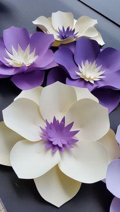 Wedding paper flower backdrop Custom paper flower wall