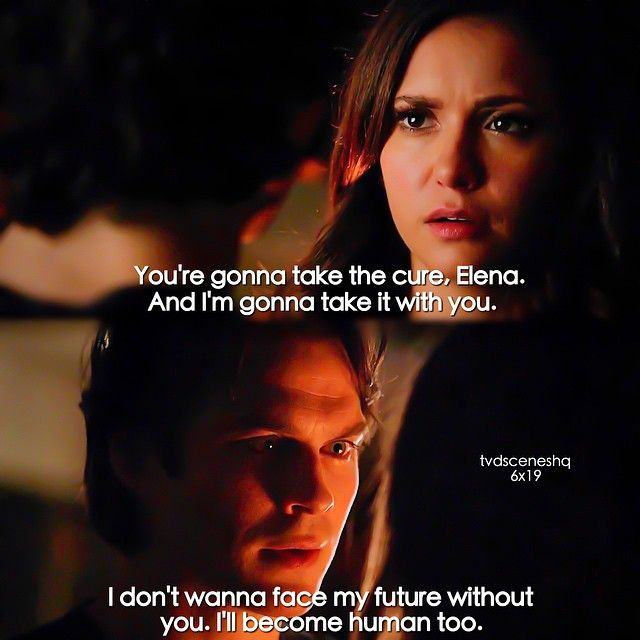 "#TVD 6x19 ""Because"" - ""You are not my daughter.""- Elena and Damon - I LOVE THIS"