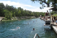 The 1,000-foot-long Barton Springs Pool in Austin, Texas, is found in idyllic Zilker Metropolitan Park, south of downtown.