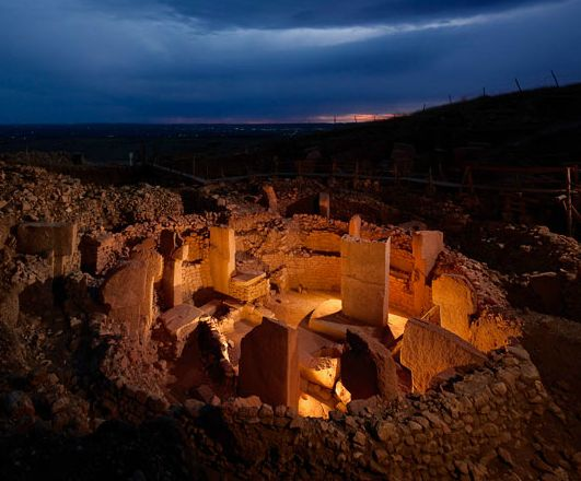 A small fraction of the entire site,  Gobekli-tepe in southern Turkey.  Photograph by Vincent J. Musi for National Geographic