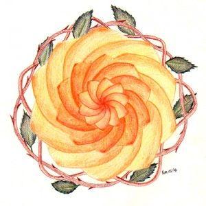 Roosmandala, Rose mandala by Kim Vermeer