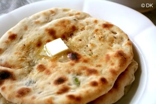 """Onion Kulchas...""""It tastes and looks like Naan, but it is not nor does it take that much time and effort. Kulchas are North Indian flat breads..."""""""