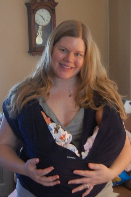 Moby wrap twin cradle hold i may need this in a few months