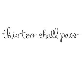 this too shall pass temporary tattoo / hand lettering script typography tattoo / body art wrist arm tattoo words type / happytatts etsy