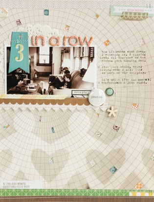 layout by Lisa Truesdell featuring Studio Calico Mister Huey's Color Mists: Studio Calico, Galleries, Idea, Scrapbook Layouts, Studios, Challenge, Scrapbooking Layouts