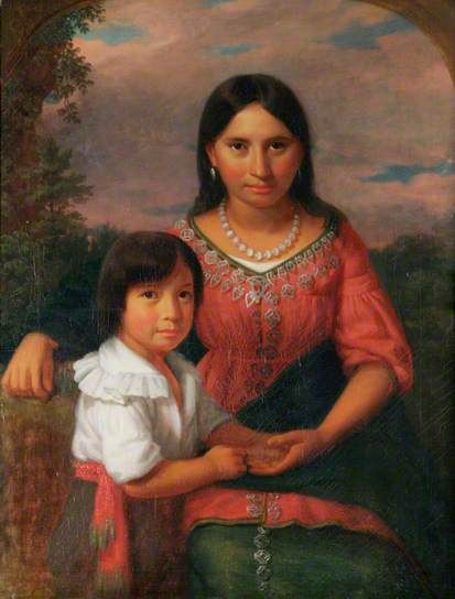 Pocahontas and Her Son Thomas Rolfe @ King's Lynn Town Hall