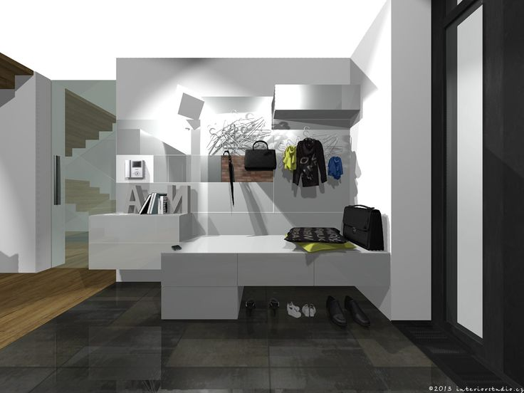 Návrh interiéru rodinného domu / vstupní hala
