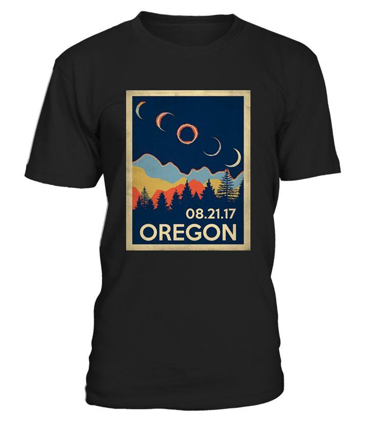 Vintage Oregon Eclipse 2017, Retro Classic Oregon Eclipse 2017, Oregon Eclipse 2017, Oregon Eclipse of the United States   Solar Eclipse 2017 shirt, Eclipse shirt, the United States total solar eclipse on 21 August 2017