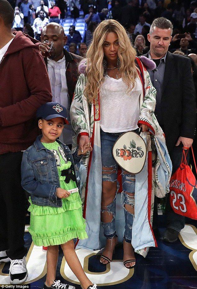 Beyonce et sa fille Bleue Ivy