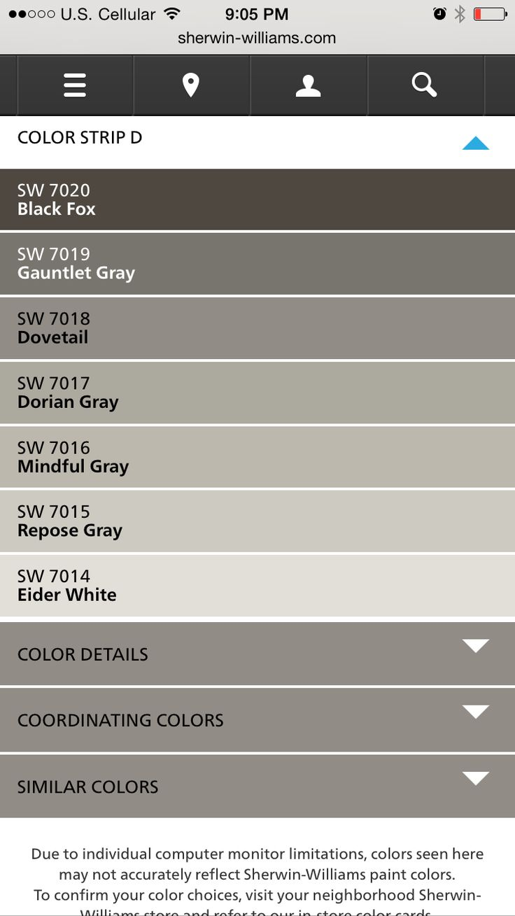 Sherwin Williams Greys used from Fixer Upper (Dovetail and Mindful Grey)