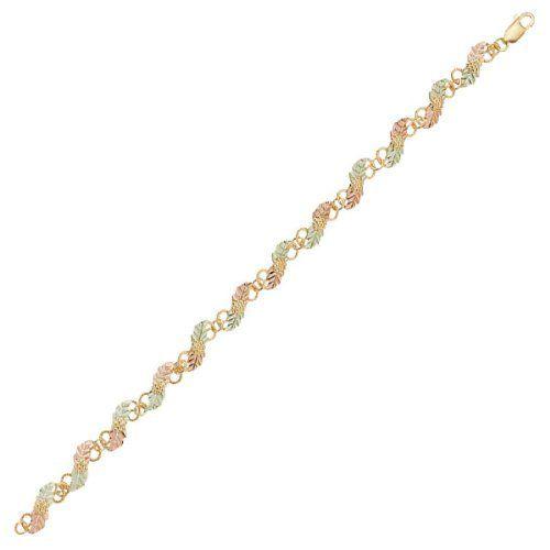 Black Hills Gold Diagonal Leaf Bracelet Black Hills Gold. $466.00. Save 33% Off!