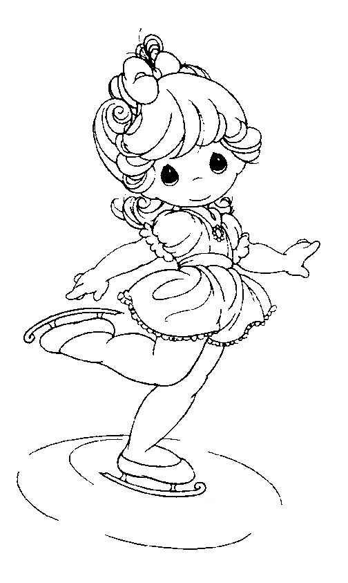 ballerina PRECIOUS MOMENTS coloring
